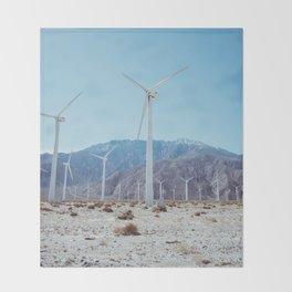 Palm Springs Windmills IV Throw Blanket