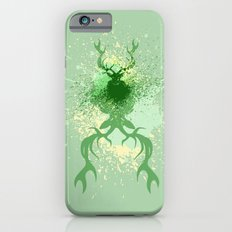 Grunge Stag with splatters iPhone 6s Slim Case