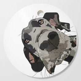 Great Dane dog in your face Cutting Board