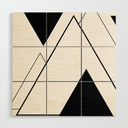Minimal Mountains Wood Wall Art