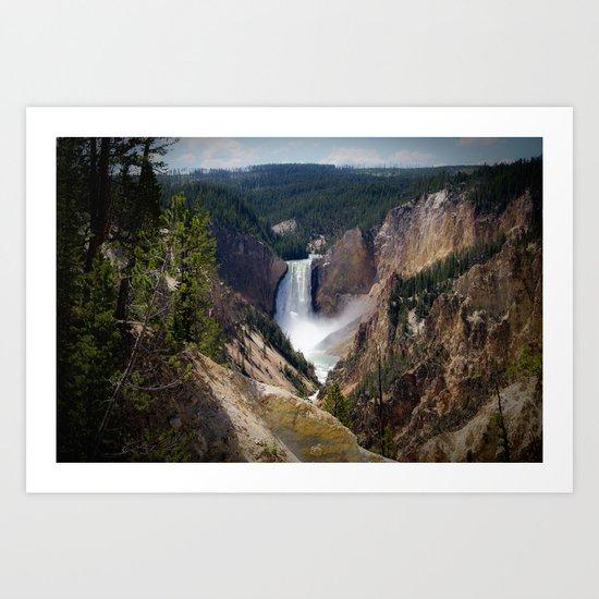 Lower Falls on the Yellowstone Art Print