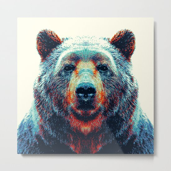 Bear - Colorful Animals Metal Print