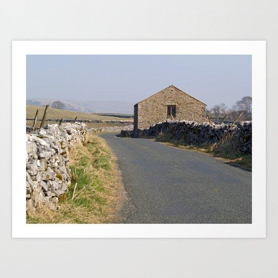 Roadside Barn Art Print