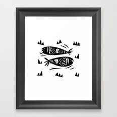 Fish Power Framed Art Print