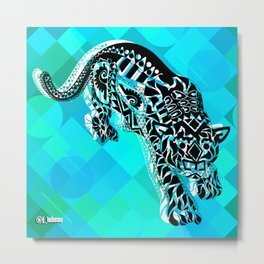 Cougar from the blue Sky ecopop Metal Print