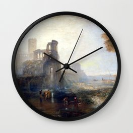 Joseph Mallord William Turner Caligula's Palace and Bridge Wall Clock