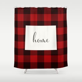 Wyoming is Home - Buffalo Check Plaid Shower Curtain