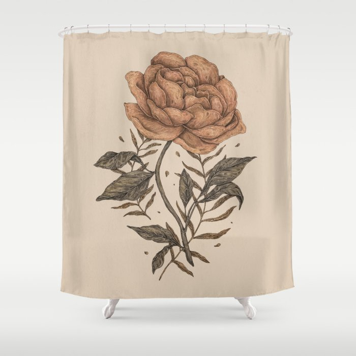 Peony And Ferns Shower Curtain