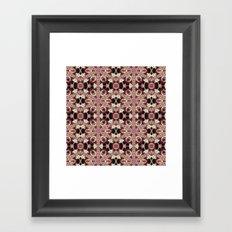 Morning Rose Kaleidoscope Photographic Pattern #1 Framed Art Print