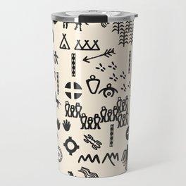 Peoples Story - Black and Creme Travel Mug