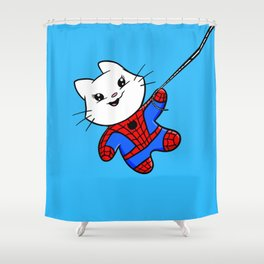 Spiderkitty! Shower Curtain