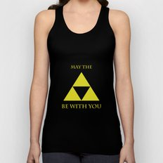 May the triforce be with you Unisex Tank Top