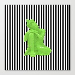 My  inner Green Buddha | Namaste Pop Art Buddha Canvas Print