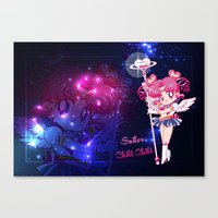 chibi Canvas Prints featuring Sailor Chibi Chibi Moon by Neo Crystal Tokyo