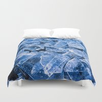 ice Duvet Covers featuring Ice by digital2real