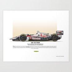#6 LOLA - 1993 - T9300 - Andretti Art Print