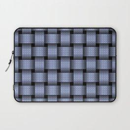 Sky Blue Basket Weave Laptop Sleeve