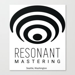 Resonant Mastering Logo Canvas Print