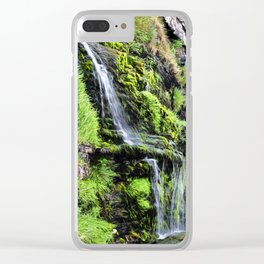 St Catherine's Tor Waterfall Clear iPhone Case