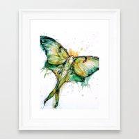 luna Framed Art Prints featuring Luna by Abby Diamond