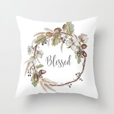 Blessed pillow Throw Pillow