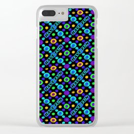 Have Fun Multicolored Text Pattern Clear iPhone Case