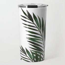 Palm Leaves Green Travel Mug