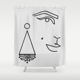 Edie Sedgwick Shower Curtain