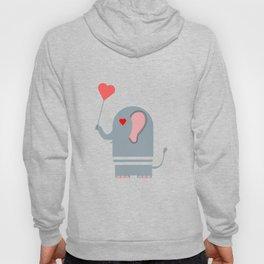 Elephant in love Hoody
