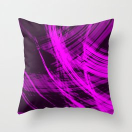 Sharp filaments of metallic strawberry threads with the energy of magic.  Throw Pillow