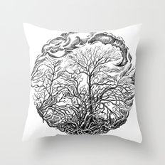 Forest and sky Throw Pillow