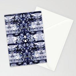 Modern Bohemian Indigo Blue Pattern Stationery Cards