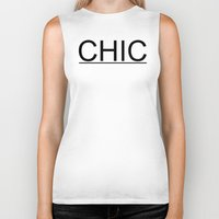 chic Biker Tanks featuring Chic by TheDopestChick