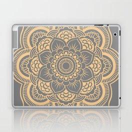 Mandala Flower Gray & Peach Laptop & iPad Skin