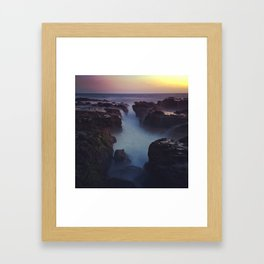 Lovely Night at the Beach Framed Art Print