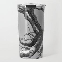 Driftwood Ladder B/W Travel Mug