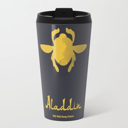 Aladdin, minimal movie poster, 1992 classic animated movie, Robin Williams, princess Jasmine, Jafar Travel Mug