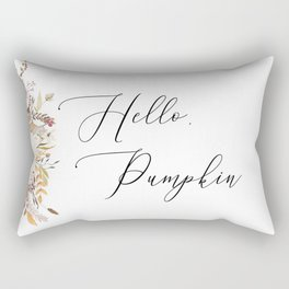 Hello Pumpkin Harvest Bouquet Rectangular Pillow