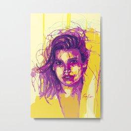 Digital Drawing #21 - Gia Marie Carangi Metal Print