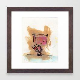Larcenous Lil' Devilbot Framed Art Print