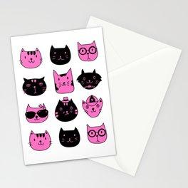 PINKBLACK CAT Stationery Cards