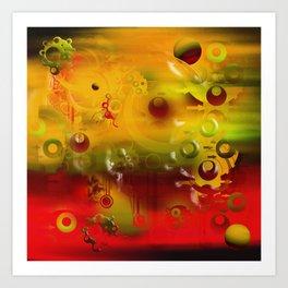 Experiment In Oils 01 Art Print