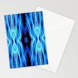 Electric Blue Abstract Stationery Cards