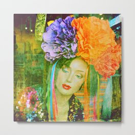 Flower Power : Another attempt at transcending both existence and non-existence Metal Print