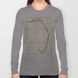 Vintage Map of Monterey Bay California (1857) Long Sleeve T-shirt