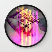 goddess Wall Clocks featuring Goddess by Iris & Ino