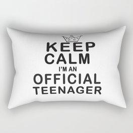 Keep Calm I'm An Official Teenager Teens Birthday Gift T-shirt Rectangular Pillow