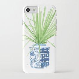 Ginger Jar + Fan Palm iPhone Case