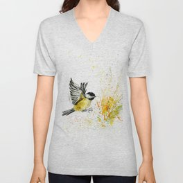 Chickadee`s flight Unisex V-Neck
