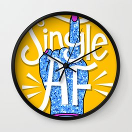 Single Ladies Glitter Hands Wall Clock